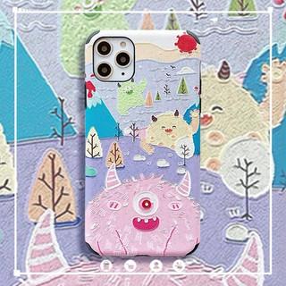 Ốp Điện Thoại Họa Tiết Quái Vật Xinh Xắn Dành Cho Iphone 11 11 Pro Max
