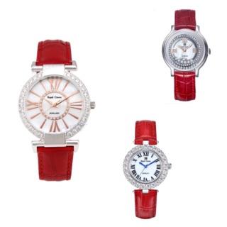 Đồng hồ nữ chính hãng Royal Crown - Bộ sưu tập dây da tròn đỏ thumbnail