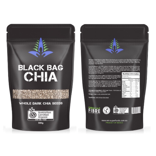 Hạt chia gói Black Chia 1kg