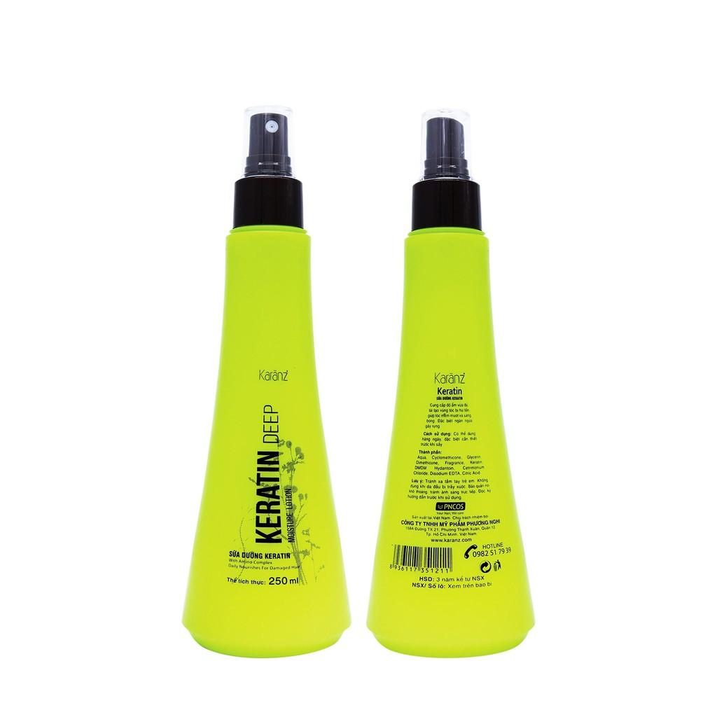 Xịt dưỡng tóc mềm mượt Keratin deep