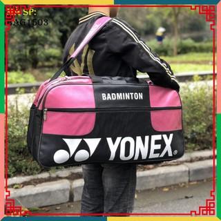 """[Ưu đãi] Túi vợt thể thao cầu lông Yonex 1503 Đen hồng đỏ chuyên dụng, thiết kế rộng rãi, mẫu mã đa dạng """""""