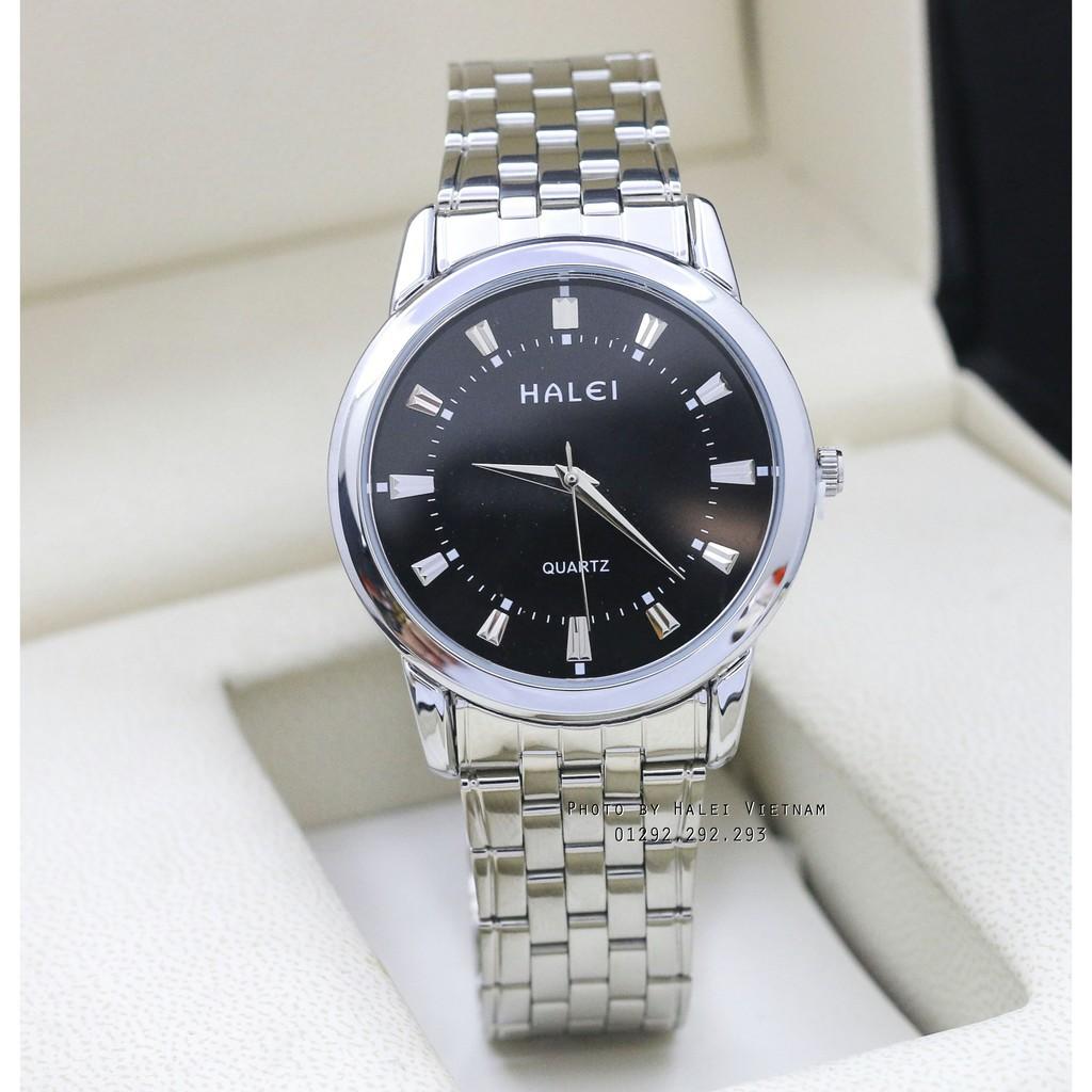 Đồng hồ nam Halei 502 màu trắng chống nước tuyệt đối