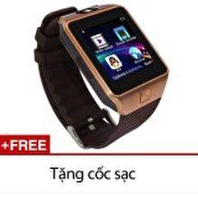 Đồng hồ thông minh Smart Watch Uwatch DZ09 (Vàng) Tặng kèm cóc sạc cao cấp