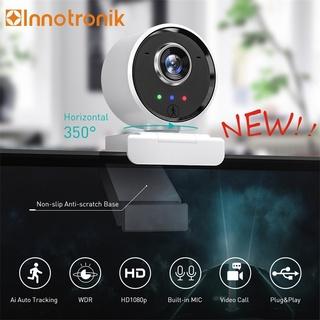 Webcam full HD Innotronik chính hãng tích hợp mic, kèm điều khiển từ xa chỉnh sáng tối và tự động theo người trình bày thumbnail