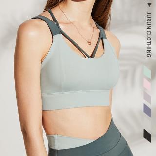 women's fitness push up sport bra running gym wear