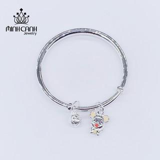 Lắc Bạc Charm Chuột Vàng Cho Các Bé - Minh Canh Jewelry