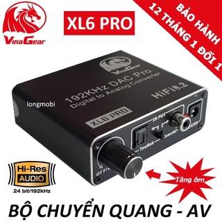 Bộ chuyển quang optical sang audio AV XL6PRO VINAGEAR Có nút điều chỉnh âm lượng thumbnail