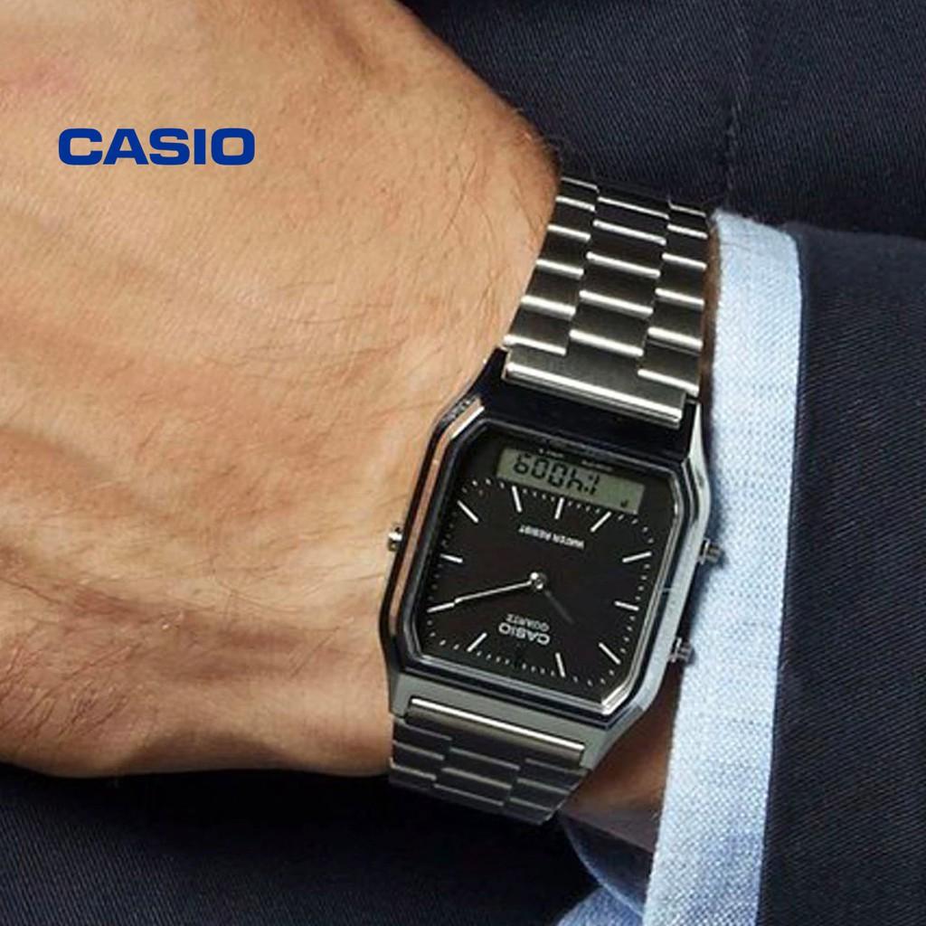 Đồng hồ nam CASIO AQ-230A-1DHDF/AQ-230A-1DMQ chính hãng - Bảo hành 1 năm, Thay pin mi