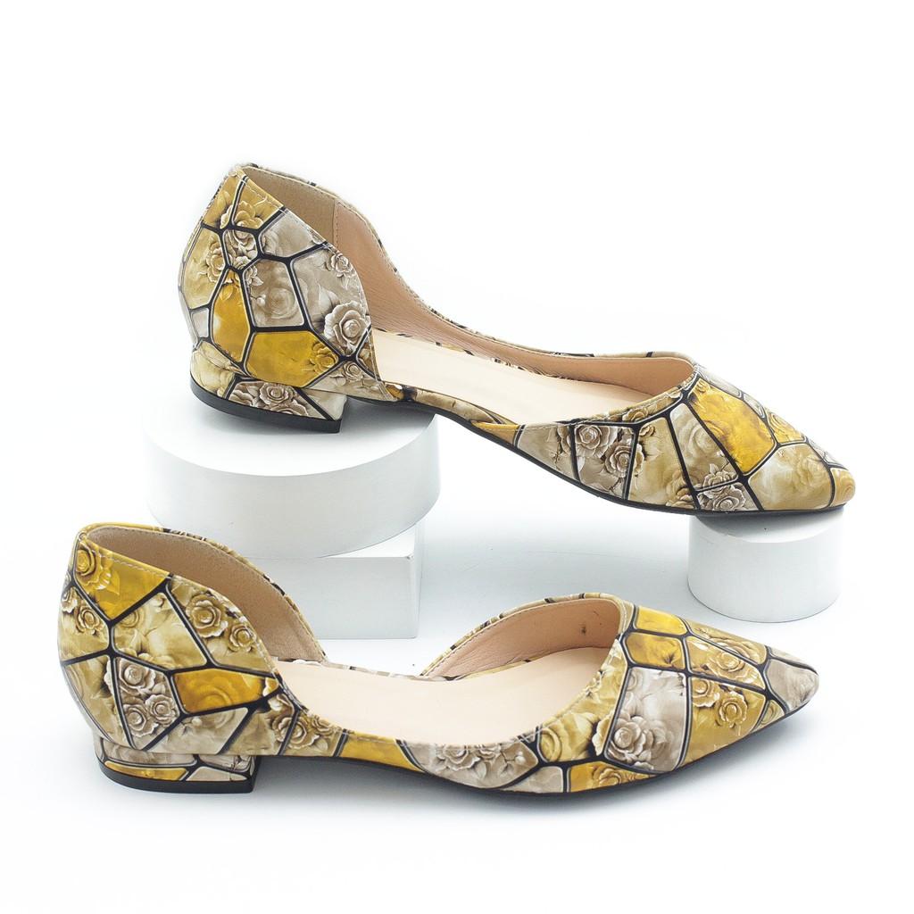 Giày Búp Bê Pixie Khoét Eo Cao 2cm P868