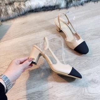 Giày Captoe gót vuông 5cm