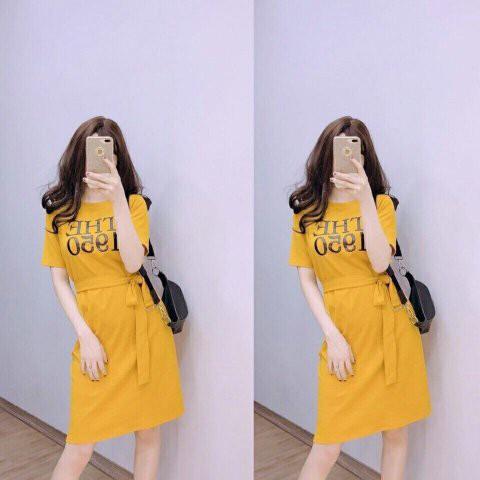 Váy Xuông In Chữ