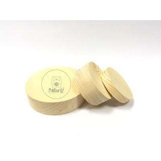 Khối gỗ tròn láng mịn – nguyên liệu DIY