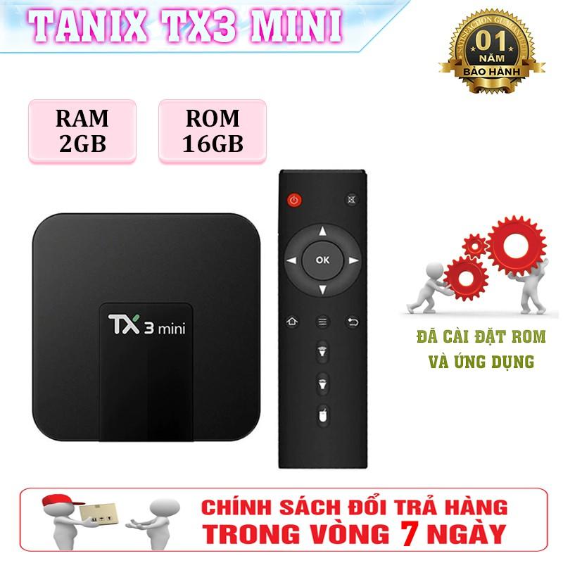 Android Tivi Box Tx3 Mini Ram CPU S905 - Ram 2GB, Rom 16GB, Có Rom ATV
