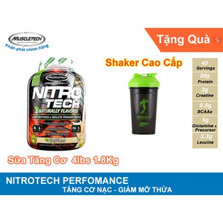 MuscleTech NitroTech hộp 4lbs 1.8kg – Hương Chocolate tặng quà Shaker