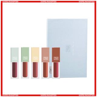 Set 5 son kem vuông Hold Live orchid love matte lip chính hãng Holdlive nội địa Trung HL270 NPP Shoptido