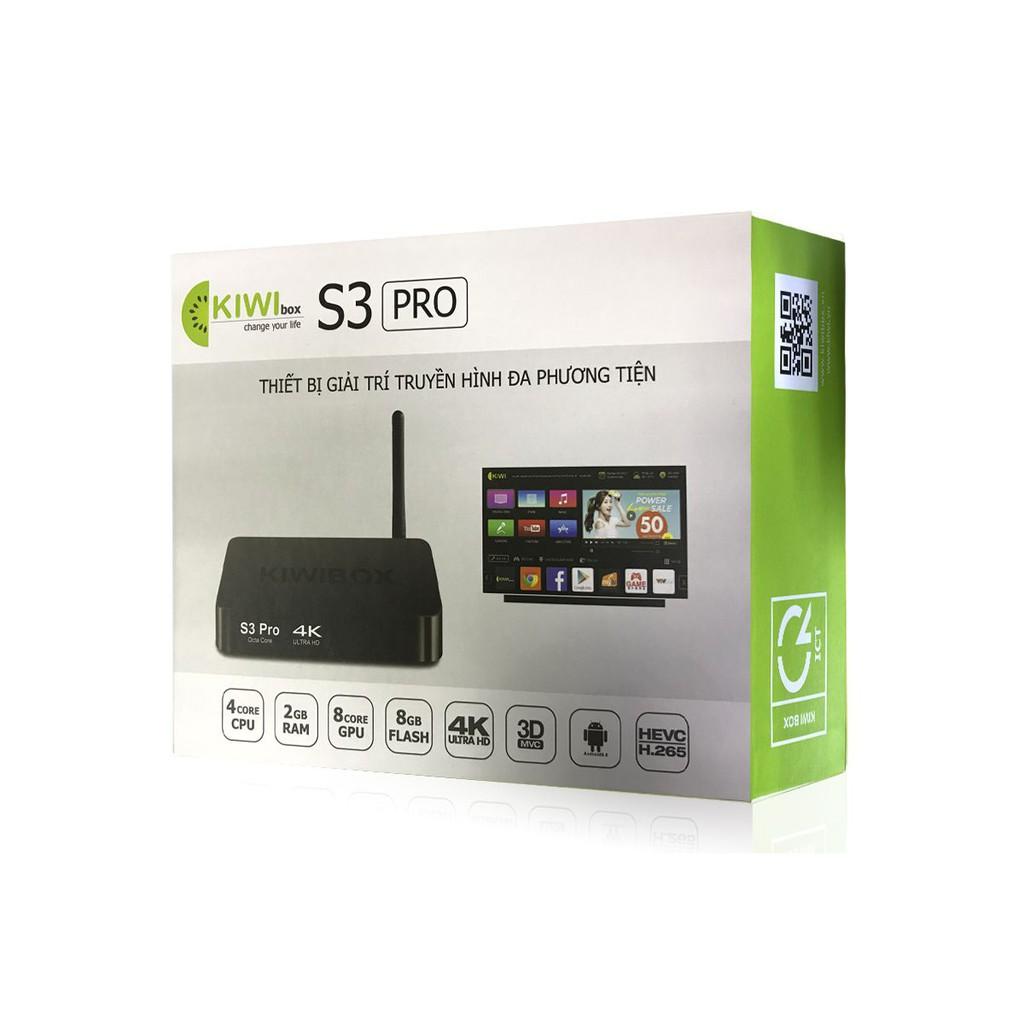 Android Tivi Box S3 Pro Kiwibox - Bảo hành 12 tháng chính hãng
