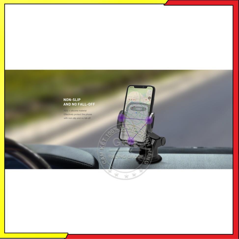Giá đỡ điện thoại Lanex LHO-C04 trên xe hơi, sử dụng đa năng tiện dụng, tương thích các thiết bị 4-6.5 inch