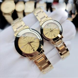Cặp Đồng hồ Halei 457 nam nữ cao cấp chống xước, chống nước tuyệt đối thumbnail