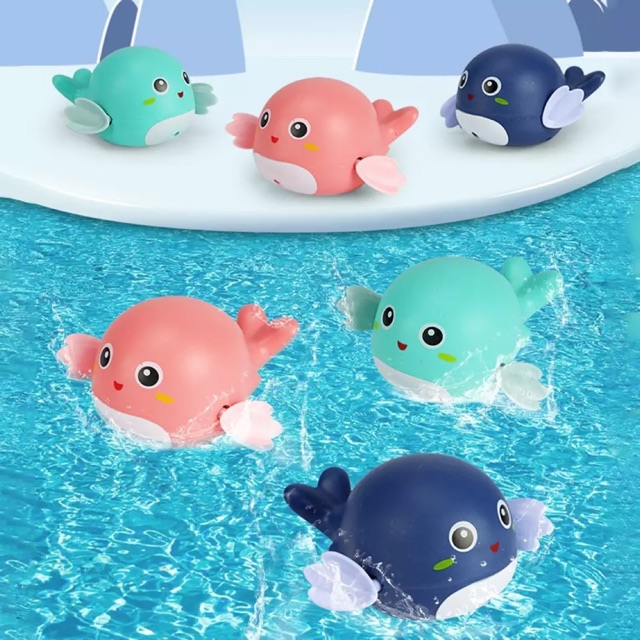 Đồ chơi CÁ HEO chạy cót bơi lội dưới nước cho bé