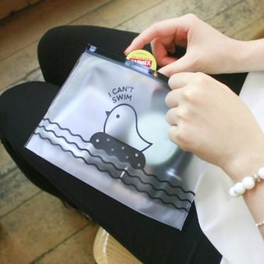Túi zip đựng văn phòng phẩm con chim