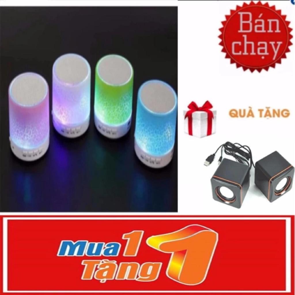 Loa mini bluetooth HLD-600 led nháy theo nhạc (Trắng) +loa 101c -dc2221+dc1038