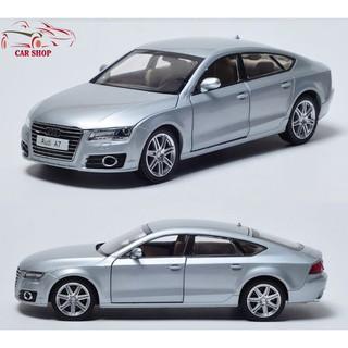 Mô tả sản phẩm XE MÔ HÌNH – Mô hình sắt Audi A7 chất lượng tỉ lệ 1:32 (Màu Bạc)