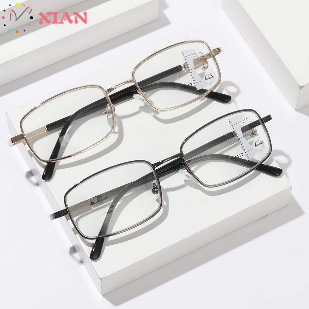 XIANSTORE Men Women Fashion Progressive Presbyopic Eyeglasses Radiation Protection Computer Goggles Anti Blue Light Reading Glasses Anti-UV Anti-blue Rays Retro...