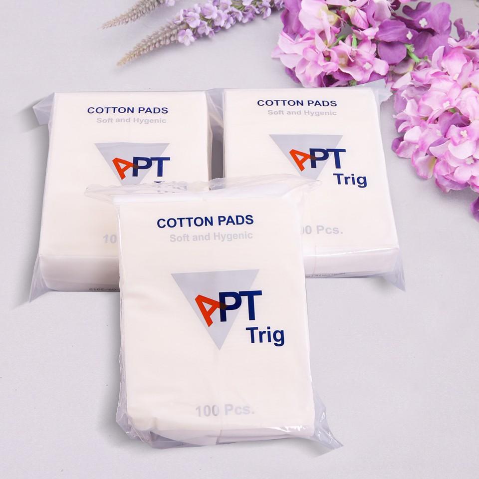 Combo 3 gói bông tẩy trang APT Thái Lan 100 miếng/gói