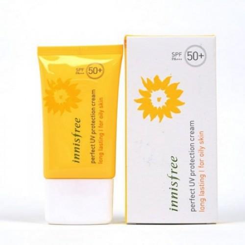 [Mã COS2509 giảm 10% đơn 250K] Kem chống nắng Innisfree Perfect Uv Protection Cream Long Lasting For Oily Skin SPF 50