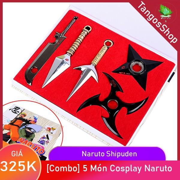 Combo Kunai Naruto 💝FREESHIP💝 Bộ Mô Hình Naruto 5 món – Kunai Cosplay Ninja Naruto