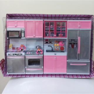 đồ chơi nhà bếp hiện đại cao cấp 4 khối, hồng. hộp 36,5x55cm. 26211P