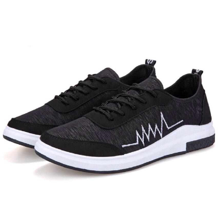 Giày Sneakers Thời Trang Nhịp Tim BT71( Đen)