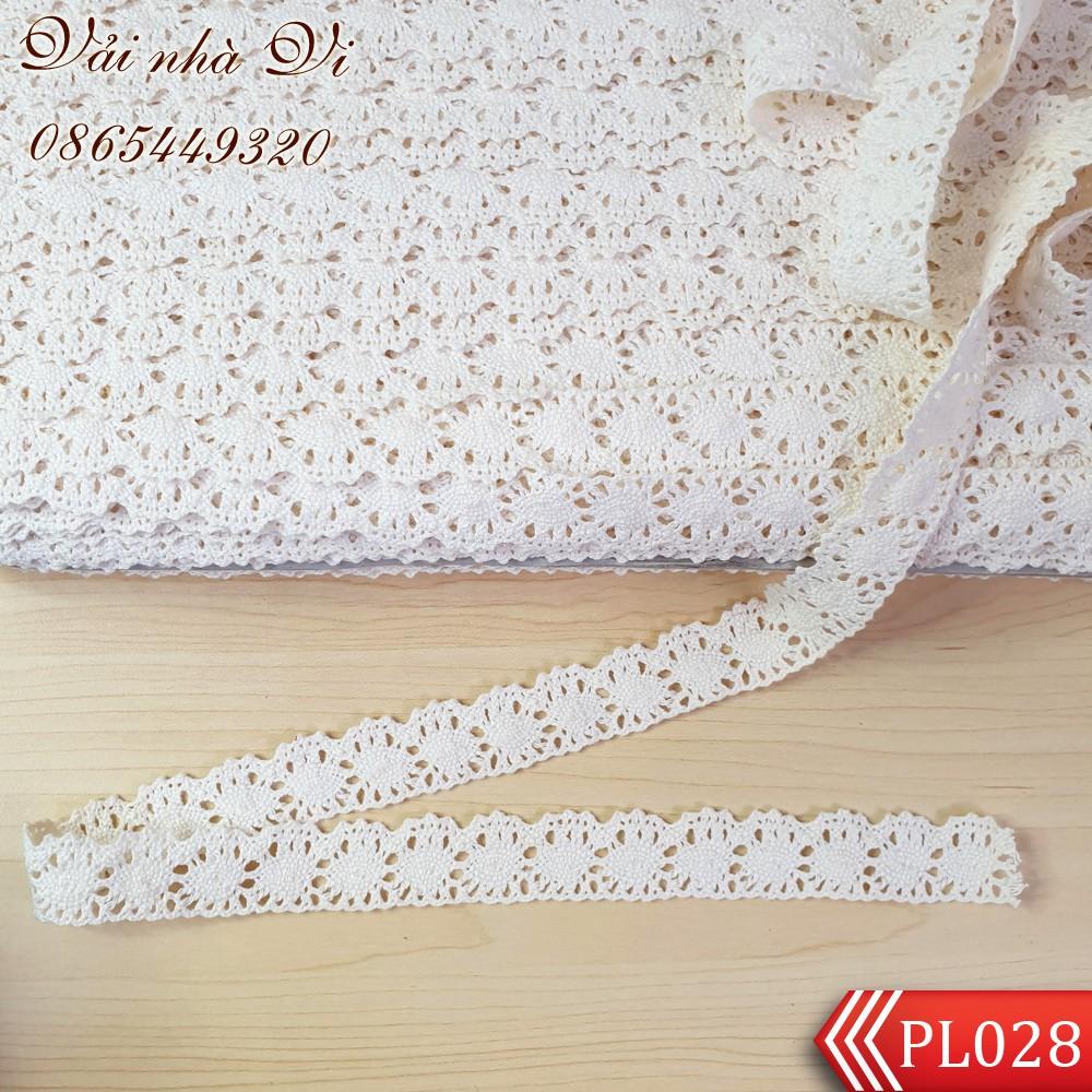 Ren cotton màu kem bản 2,2cm chất xịn (1m) - PL028