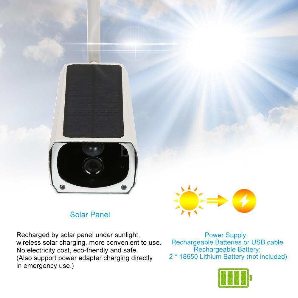 Wireless HD 1080P WiFi Solar & Battery Power Bullet IP