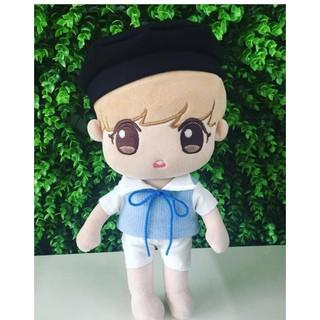 Set Sơ Mi Phối Len Xanh và quần cho doll