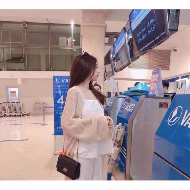 [Mã WASEPRN hoàn 20% xu đơn 99k] [SIÊU HOT] Áo cardigan len mỏng 3 màu nữ hàng Quảng Châu SIÊU ĐẸP