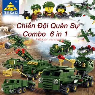Bộ Đồ Chơi Mô Hình Lắp Ráp Lego Quân Đội 6 Trong 1 Xanh Đậm Loại To – Đồ Chơi Phát Triển Trí Tuệ