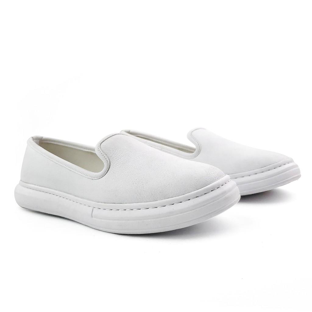 Giày bệt Slip On nữ Da thật cao cấp Da mềm Siêu Nhẹ Siêu Êm HANO - B0755