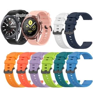 Dây Đeo Silicon Cho Đồng Hồ Thông Minh Samsung Galaxy Watch 3 41mm 45mm