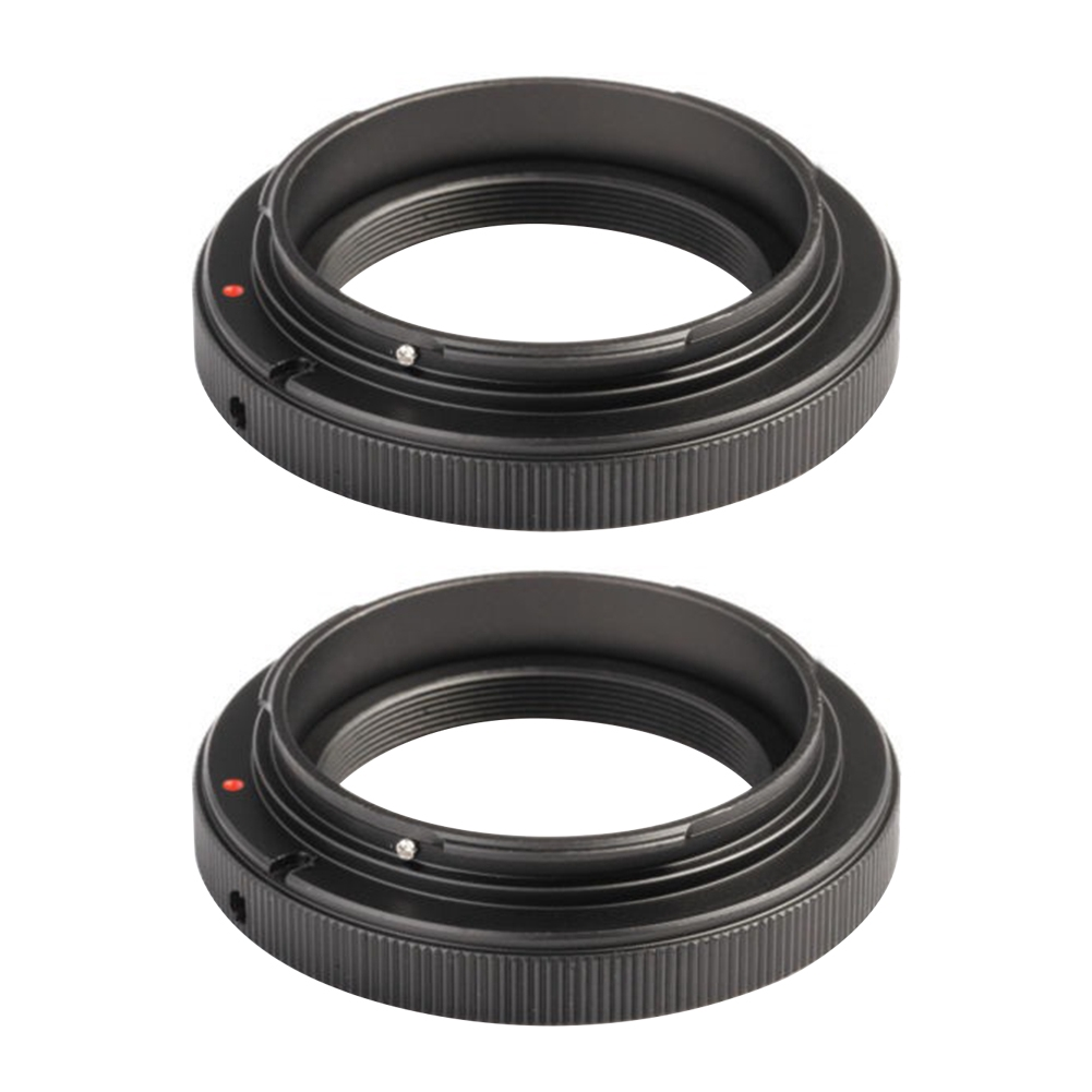 2PCS Accessories Aluminum Alloy Manually Lens Adapter Ring Camera T Mount For Canon