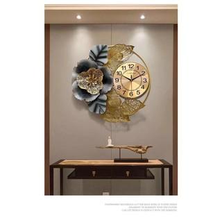 Đồng hồ treo tường trang trí hoa nghệ thuật