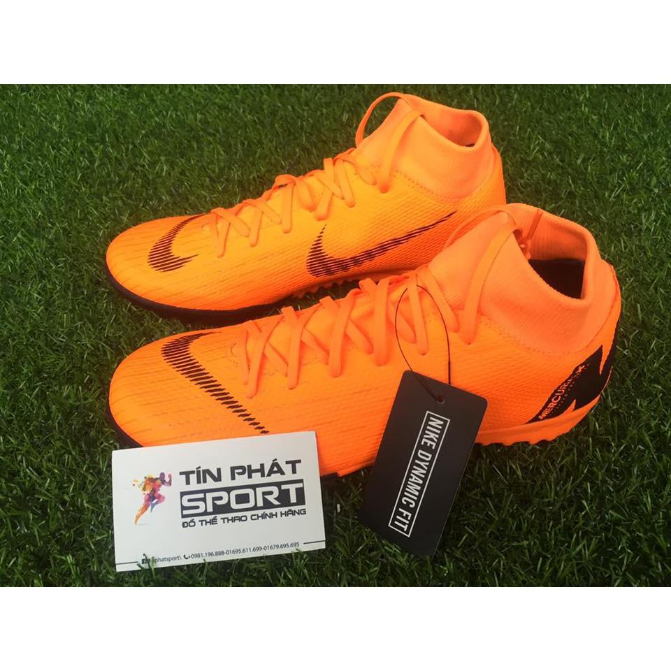 cbc5d44fa2071 Giày Đá Bóng Nike Mercurial Superfly VI Academy TF Da Cam Chính Hãng ...