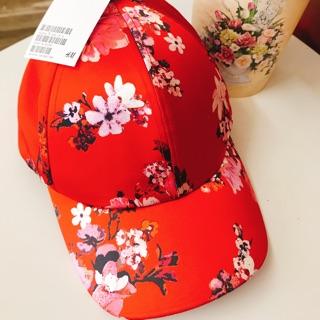 Nón H&m đỏ hoa đào size S newtag thanh lý 180k thumbnail