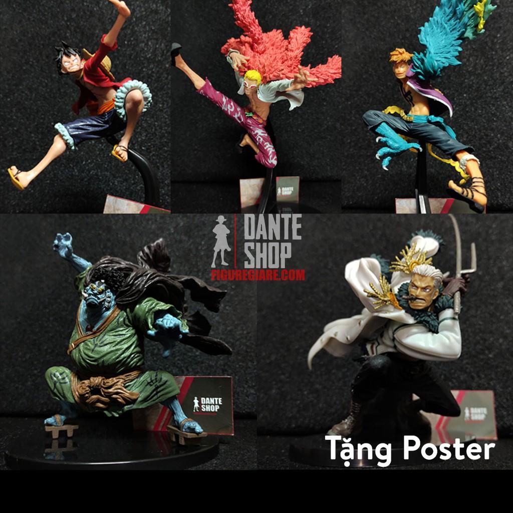 Mô Hình Figure One Piece Luffy, Marco, doflamingo,Jinbei, Smoker FullBox