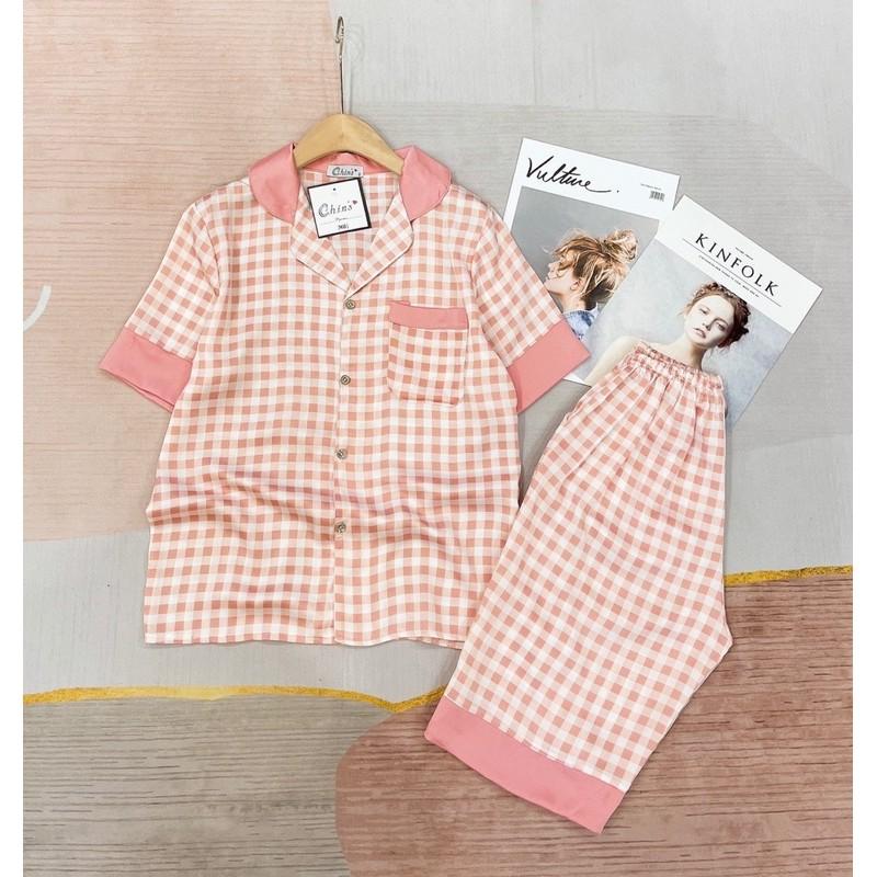 Mặc gì đẹp: Mát mẻ với [HÀNG CAO CẤP] Đồ Ngủ🎯Đồ Bộ Pijama Lụa Quẩn Lửng Họa Tiết Xinh Xắn💖Chất Liệu Latin Mát Lịm