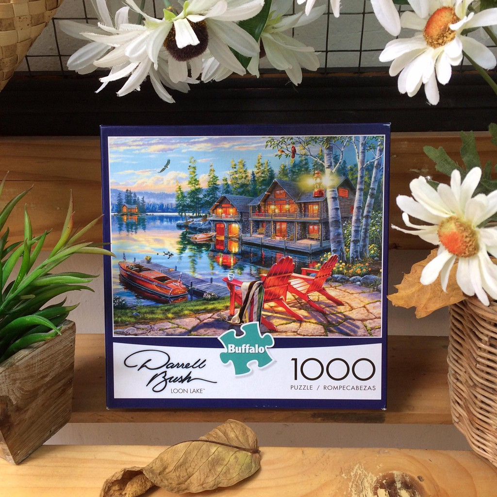 """(Có sẵn) Tranh ghép hình 1000 mảnh """"Loon lake"""", Buffalo"""