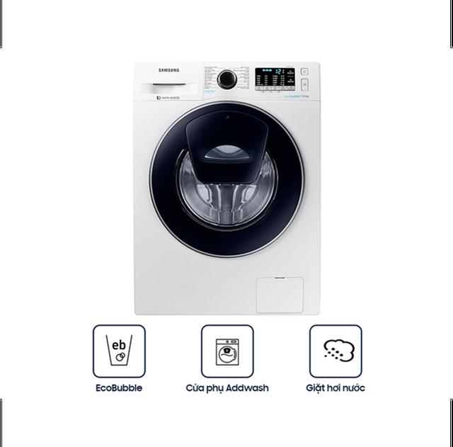 Miễn phí công lắp đặt_Máy Giặt Samsung Inverter Addwash WW90K54E0UW/SV (9kg) - Hàng Chính Hãng