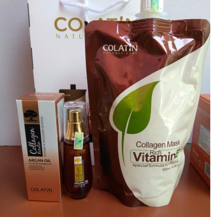 TINH DẦU ARGAN COLATIN 40ml + hấp colatin 500ml - 2954672 , 115294589 , 322_115294589 , 680000 , TINH-DAU-ARGAN-COLATIN-40ml-hap-colatin-500ml-322_115294589 , shopee.vn , TINH DẦU ARGAN COLATIN 40ml + hấp colatin 500ml
