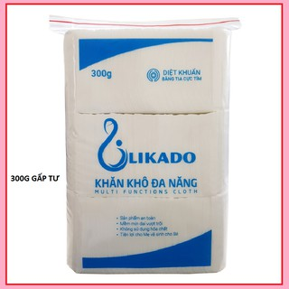 Khăn giấy khô FREESHIP Khăn vải Khô Likado 300g (1 GÓI)
