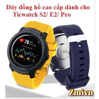 Dây đồng hồ cao su Ticwatch S2 / E2 / Pro - Sikai cao cấp